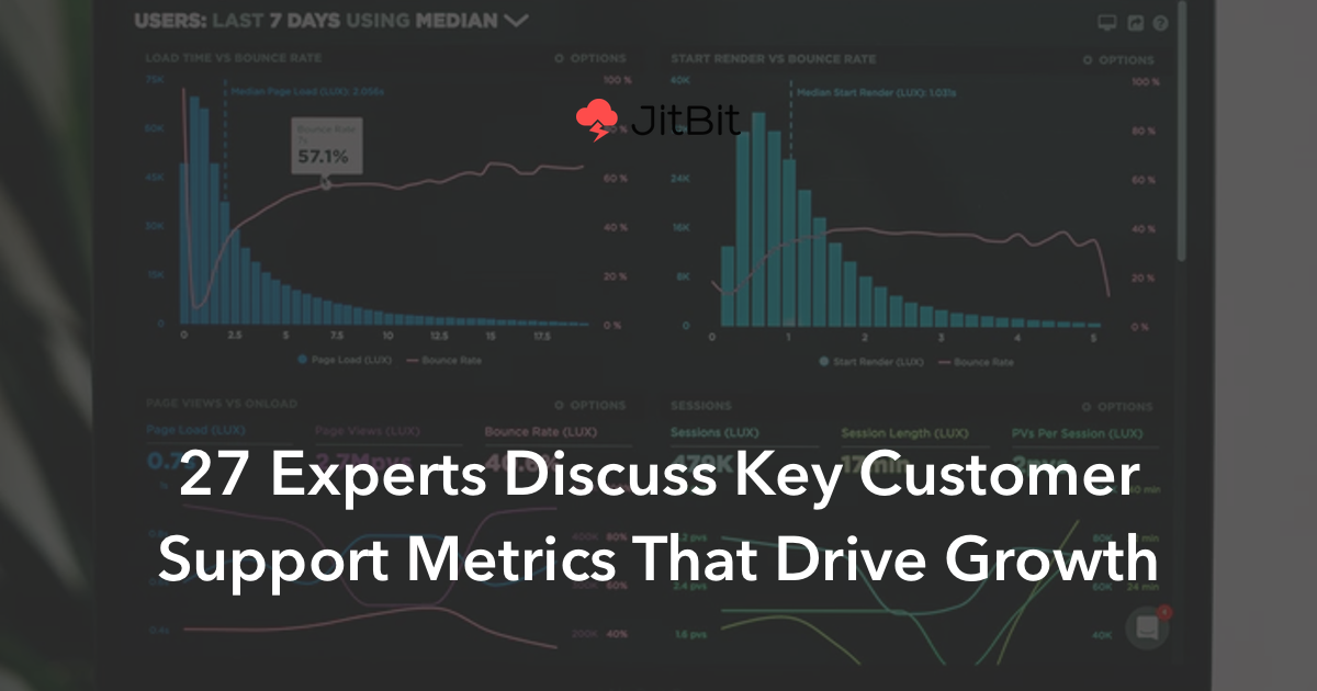 27 Experts Discuss Key Customer Support Metrics That Drive